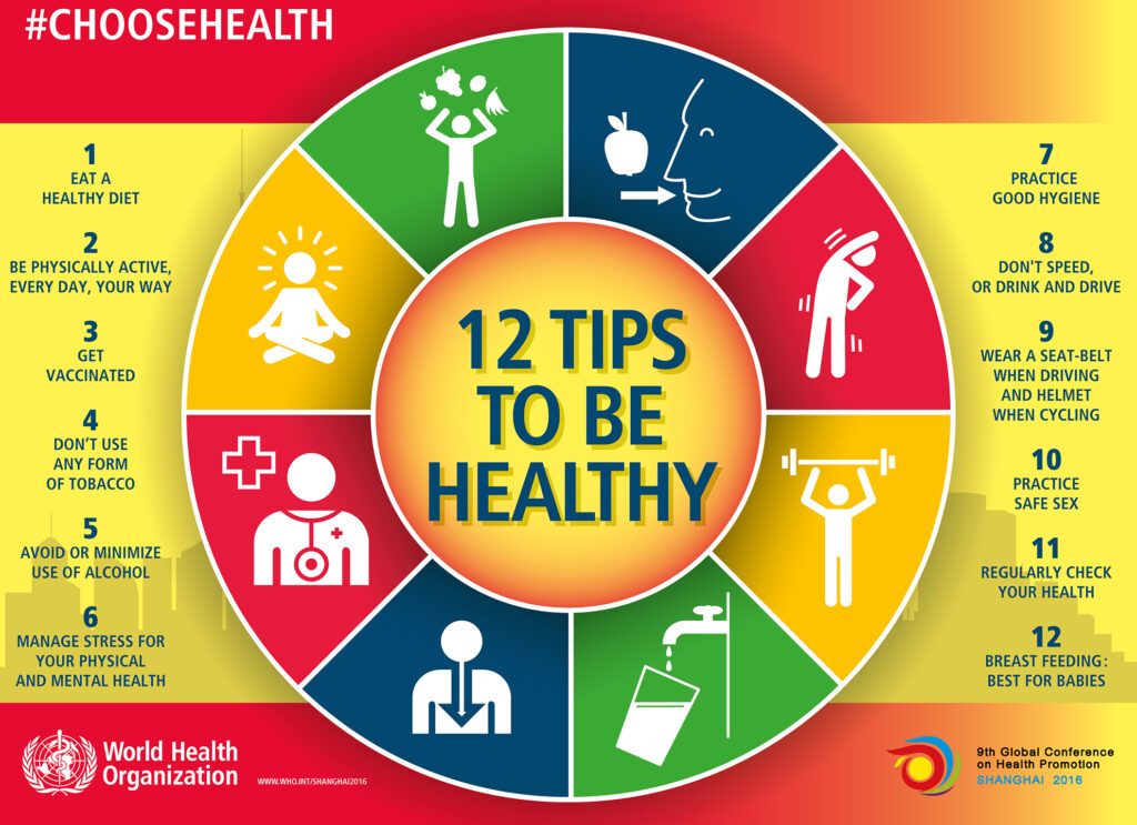 12 tips for a healthy lifestyle