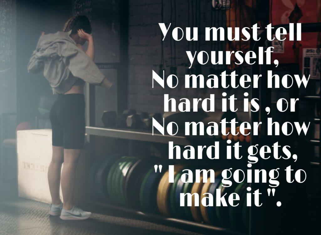 How do getting through tough times? 5