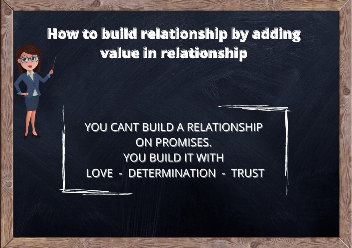 Building a relationship by adding value to them. 1