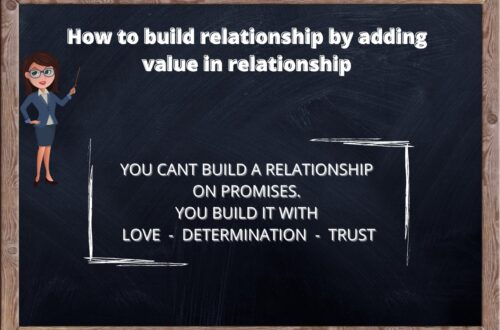 Building a relationship by adding value to them. 8