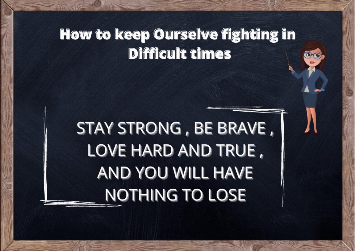 How do getting through tough times? 1